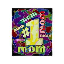 #1 mom Throw Blanket