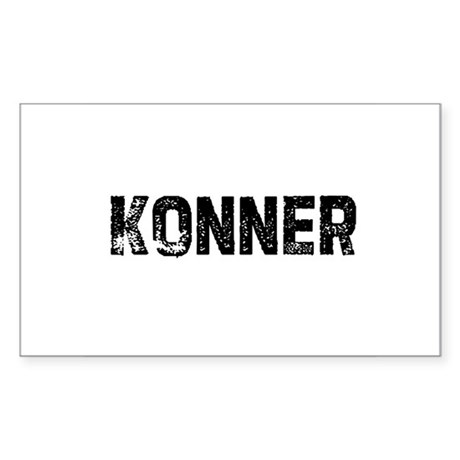 Konner Rectangle Sticker