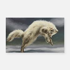Arctic Fox Rectangle Car Magnet