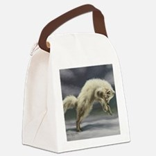 Arctic Fox Canvas Lunch Bag