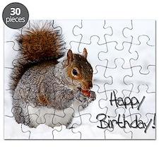 Happy Birthday Squirrel Puzzle