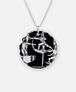 The Dance of Fencing Necklace