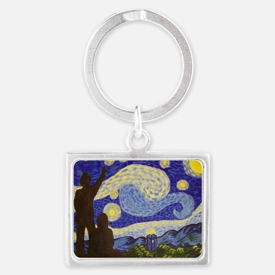 Dr. Starry Night Landscape Keychain