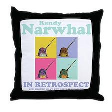 narwhal-randy-DKT Throw Pillow