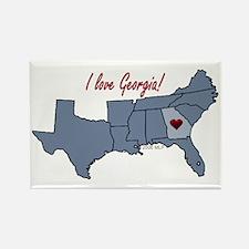 Georgia-South Rectangle Magnet