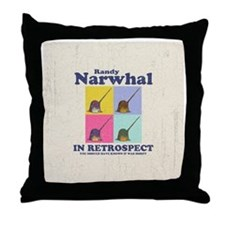 narwhal-randy-BUT Throw Pillow