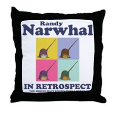 narwhal-randy-LTT Throw Pillow