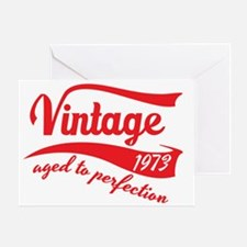 Vintage 1973 aged to perfection 40th Greeting Card