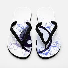 Yin Yang Flip Flops