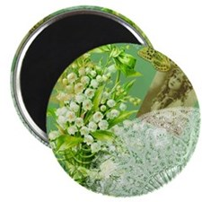 Lily of the Valley Collage Magnet