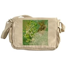 Lily of the Valley Collage Messenger Bag