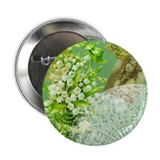 "Lily of the Valley Collage 2.25"" Button"