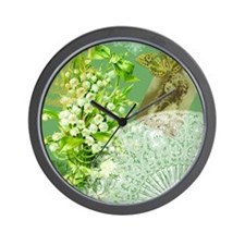 Lily of the Valley Collage Wall Clock
