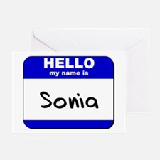 hello my name is sonia  Greeting Cards (Package of