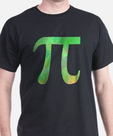PI IRRATIONAL NUMBER ABSTRACT GREEN D T-Shirt