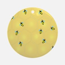 Bees buzzing (ff) Round Ornament