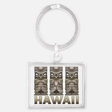 Hawaii Tiki Landscape Keychain
