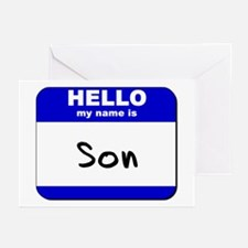 hello my name is son  Greeting Cards (Pk of 10