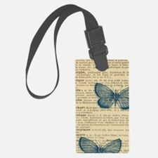 Butterfly Vintage Luggage Tag