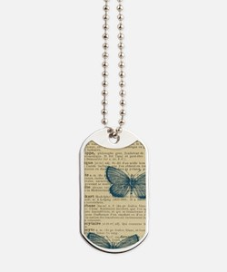 Butterfly Vintage Dog Tags