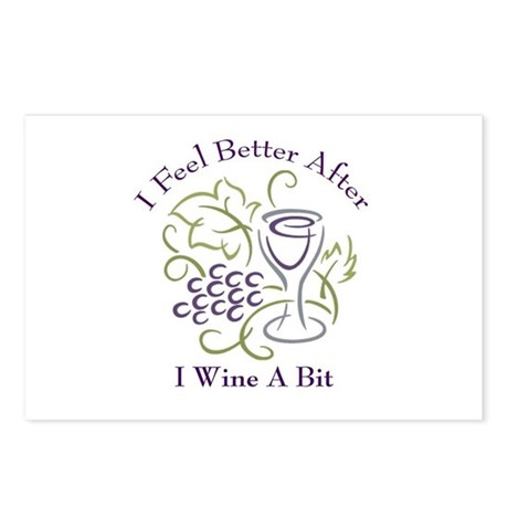 Wine a Bit Postcards (Package of 8)