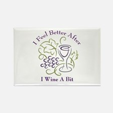 Wine a Bit Rectangle Magnet (100 pack)