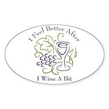 Wine a Bit Oval Decal