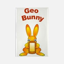 Geo Bunny Rectangle Magnet