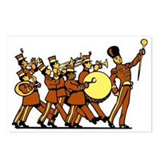 Cartoon Marching Band Postcards (Package of 8)