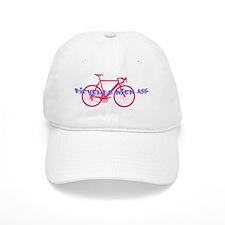 Biking kicks ass Baseball Cap