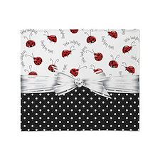 Ladybug Dreams Throw Blanket