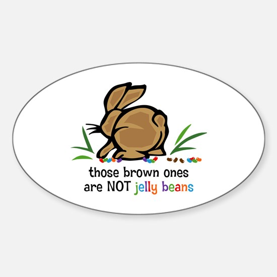 Brown Jelly Beans Oval Bumper Stickers
