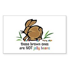 Brown Jelly Beans Rectangle Decal