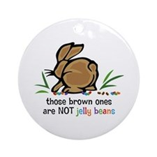 Brown Jelly Beans Ornament (Round)