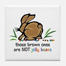 Brown Jelly Beans Tile Coaster