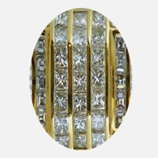 Yellow Gold and Diamonds Oval Ornament