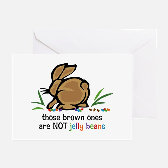 Brown Jelly Beans Greeting Cards (Pk of 10)