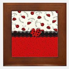 Ladybugs Dotty World Framed Tile