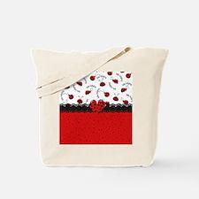 Ladybugs Dotty World Tote Bag