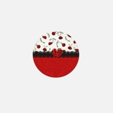 Ladybugs Dotty World Mini Button