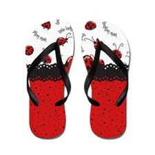 Ladybugs Dotty World Flip Flops