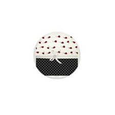 Polka Dots And Ladybugs Mini Button
