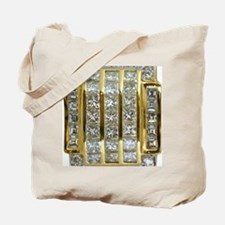 Yellow Gold and Diamond Bling Tote Bag