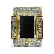 Yellow Gold and Diamond Bling Picture Frame