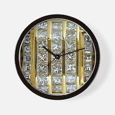 Yellow Gold and Diamond Bling Wall Clock