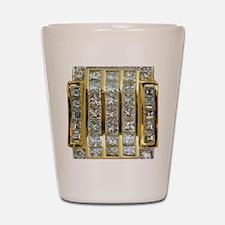 Yellow Gold and Diamond Bling Shot Glass