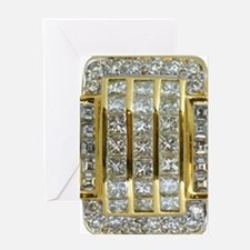 Yellow Gold and Diamond Bling Greeting Card