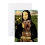 Airedale terrier art Greeting Cards (10 Pack)