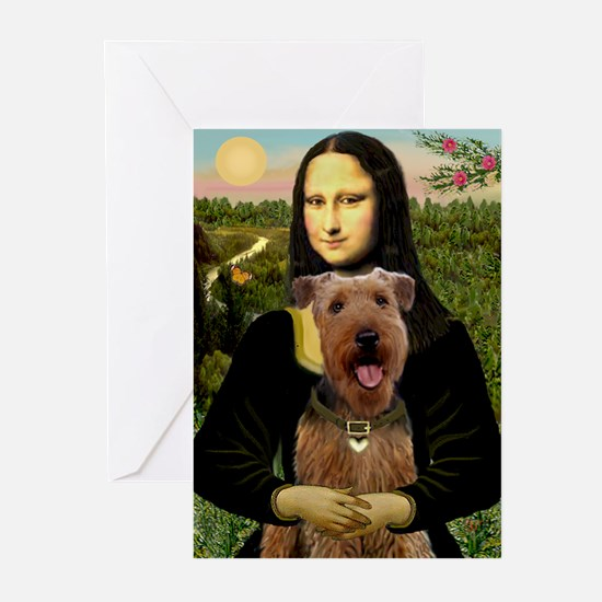 Mona Lisa - Airedale #3 Greeting Cards (Pk of 10)