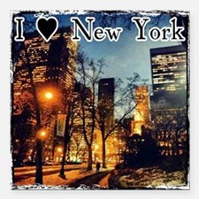 """I Heart NYC Square Car Magnet 3"""" x 3"""""""